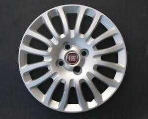 """Fiat Grande Punto copricerchio borchia coppa ruota 15/"""" logo blu cod 1215"""