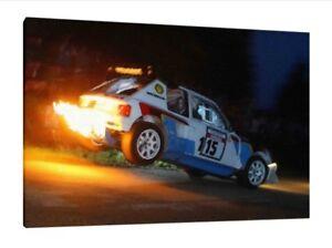 PEUGEOT 205 T16 - 30x20 pouces toile-Encadrée Photo Imprimé Groupe B Rallye Art  </span>