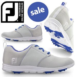 FootJoy-enJoy-Light-Grey-Golf-Shoes-Women-039-s-Ladies-NEW-2019-SALE
