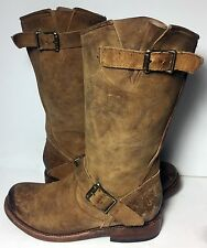 FREEBIRD By Steven Crosby Brown Leather Motorcycle Boots Women's Lady's Size 7