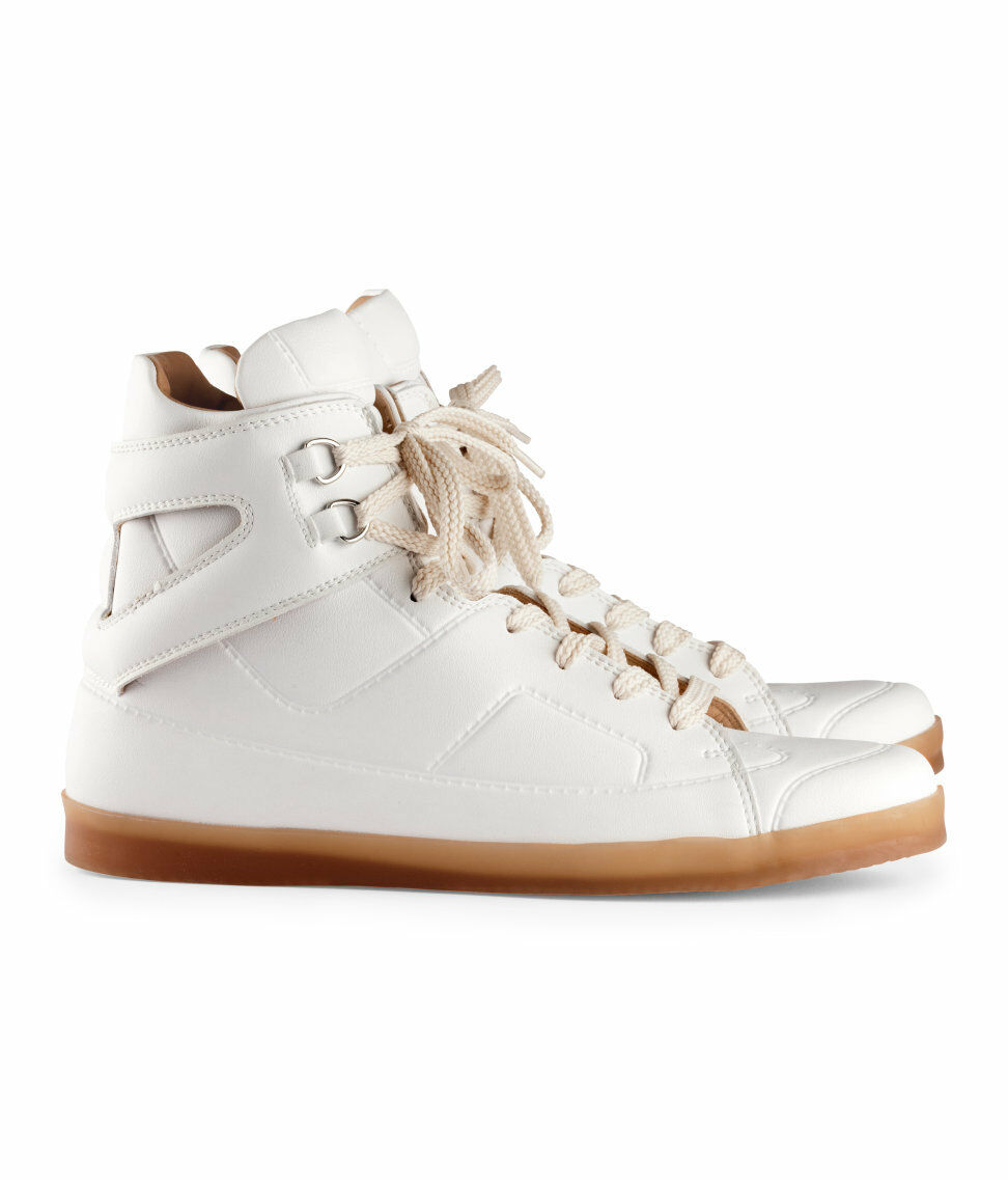 Maison Martin Margiela H&M 6 us, 7 EU39, 40 paniers Hi-top Chaussures Blanches Top