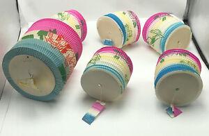 6 Vintage Retro Paper Accordion Lanterns Lantern Japan Fold up