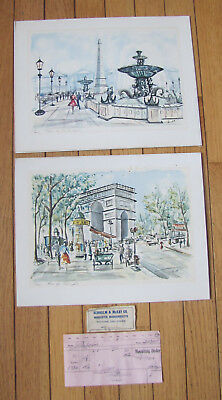 Paris City Snow Arc de Triomphe Light Ltd Edition ACEO Print Art Yary Dluhos