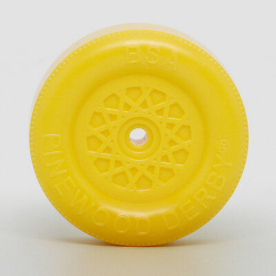 Pinewood Derby Car Official BSA Wheels and Axles YELLOW