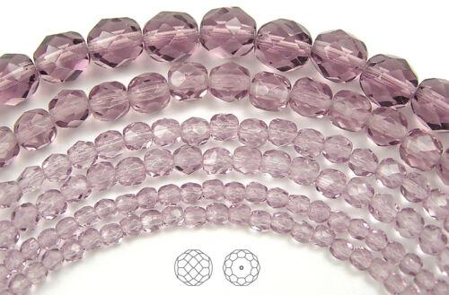 600 Preciosa Czech Glass Fire Polished Beads 4mm Light Amethyst purple color