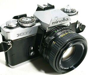 Camara-SLR-Minolta-XD7-35mm-de-cine-con-lente-de-F1-7-50mm-primer-post-rapido-Reino-Unido