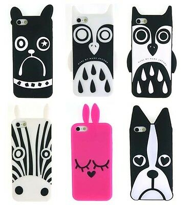 New Marc Jacobs Fashion Zebra Owl Dog Silicon Case Cover for Apple iPhone 5 5S X