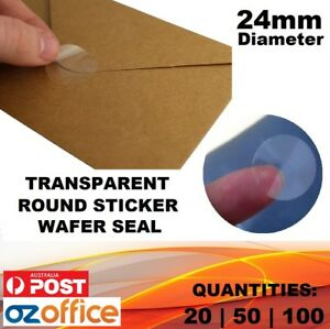 24mm-Diameter-Transparent-Clear-Sticker-Dot-Round-Wafer-Seal-Clear-Envelope-Seal