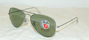 OCCHIALE-DA-SOLE-RAYBAN-AVIATOR-LARGE-METAL-RB-3025-POLARIZZAT-ORIGINALE-NUOVO