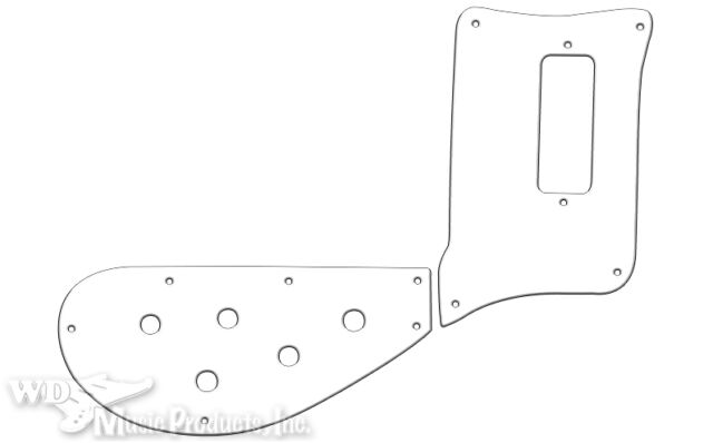 Rickenbacker ® Bass 4003 PG white black white 3 ply Two Pieces Pickguard Quality