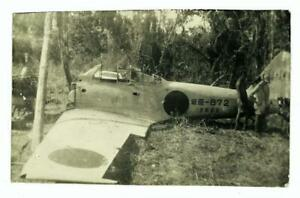 ORIG-WWII-JAPANESE-A6M3-ZERO-FIGHTER-PLANE-BUNA-AIRFIELD-NEW-GUINEA-6X9-PHOTO