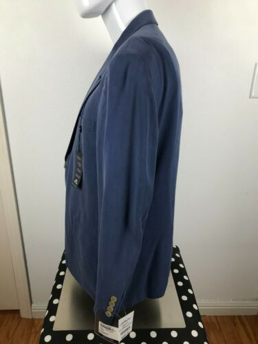 STAFFORD CASSIDY MENS BLUE SPORTS BUTTON UP 100% SILK COAT NWT 42SHORT 17/17