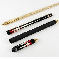 Jonny 8 Ball Flame Adjustable 4pc Ash Pool Snooker Cue - 8mm Tip