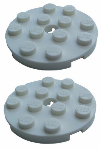 SNAP Parts /& Pieces 2 x Lego White PLATE 4X4 ROUND W 4515347