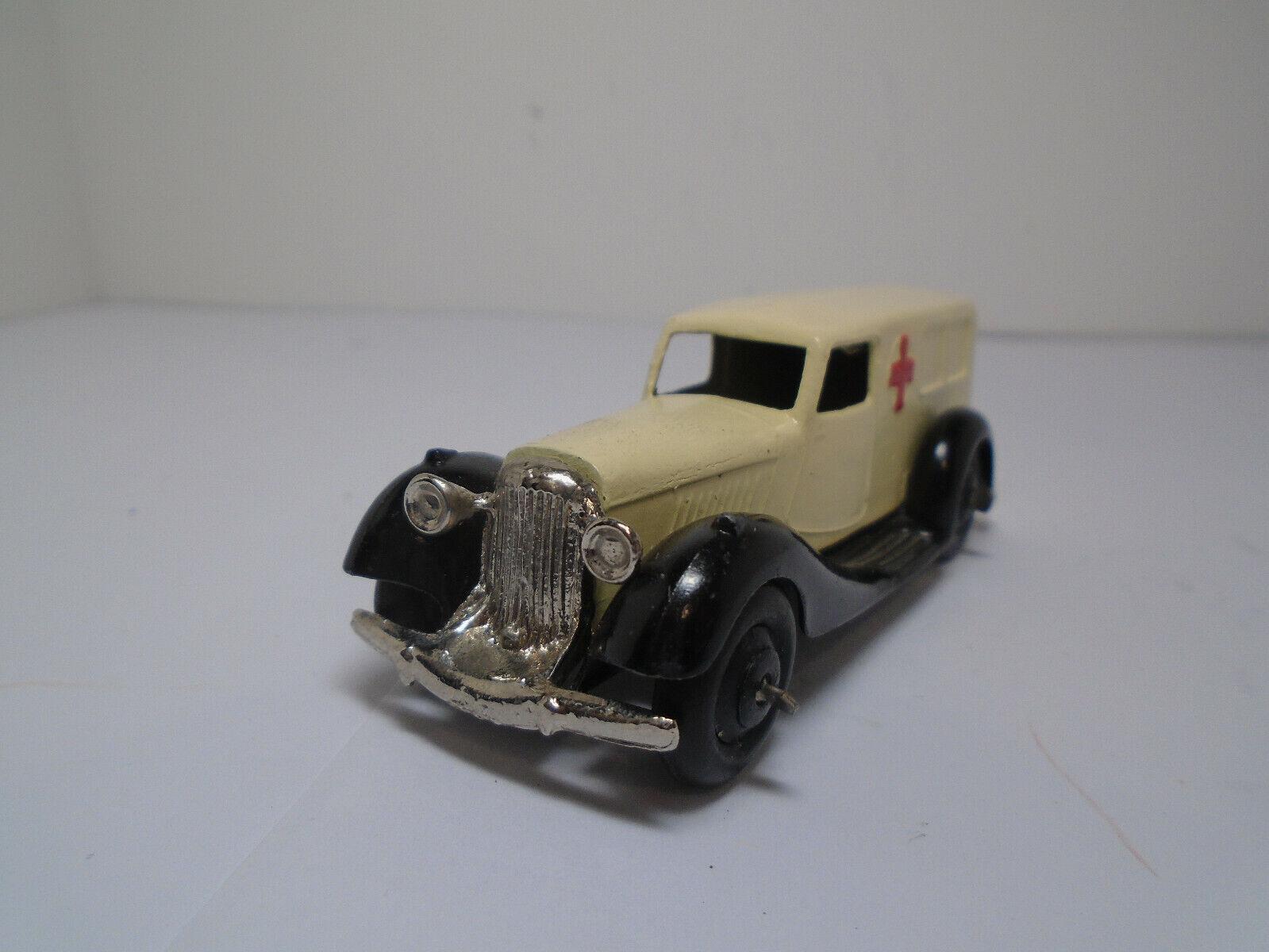 Vintage Dinky Juguetes  30f-G'47 ambulancia Bentley Restaurado a cerca de nuevo, sin usar