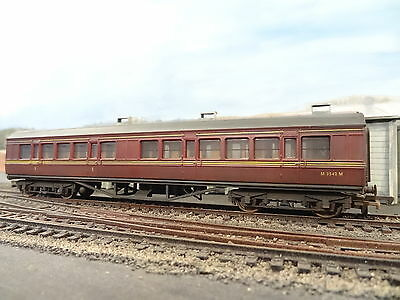 Fornito Mainline Br 57' Maroon Corridor Coach M3542 (lineside Weathered) 37115 Boxed