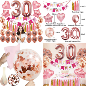 30Th Birthday Decorations Party Supplies Dirty Thirty Balloons ROSE