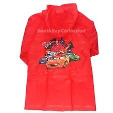 Disney Cars McQueen Boys Rain Slicker Coat Large 5/6 Red PEVA Lightweight