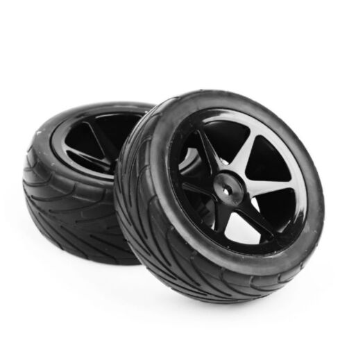 4X90mm Front /& Rear Tires Tyre /&Wheel Rim For HSP HPI 1:10 RC On-Road Buggy Car