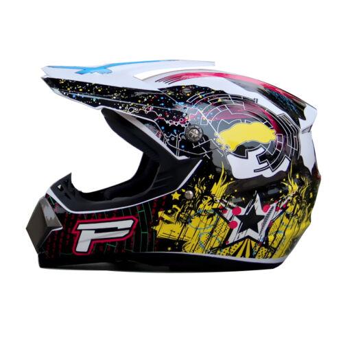Motorcycle Motocross Safe Gear Guard Adult Off-Road Racing Full Face Helmet UDW