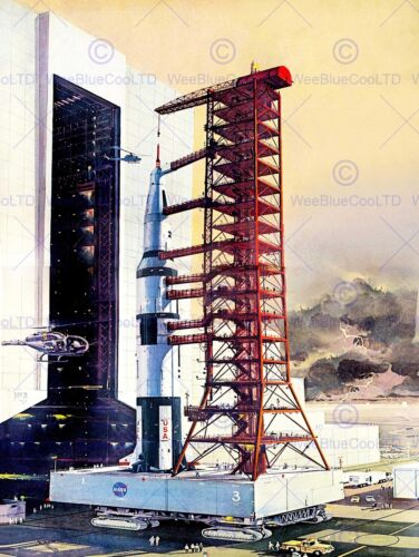VINTAGE ROCKET LAUNCH LIFE MAGAZINE SPACE NEW ART PRINT POSTER PICTURE CC4568