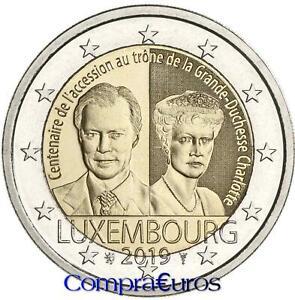 2-Euros-Conmemorativos-LUXEMBURGO-2019-Duquesa-Carlota-Sin-Circular