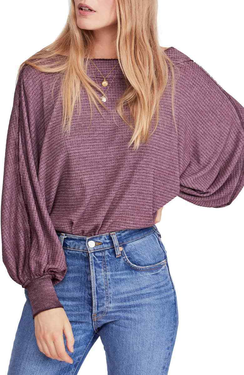 NWT Free People Willow Thermal Top Retail