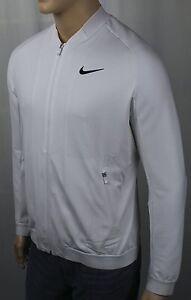 zwarte rits Whole witte jas nieuw met Nike Swoosh label tennis Drifit x5qRXEwEn