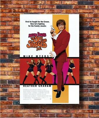 T2193 Poster AUSTIN POWERS THE SPY WHO SHAGGED ME Classic Movie Mike Myers Art
