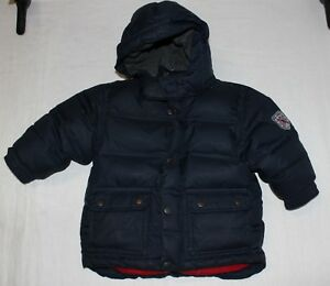 0d1b210f835c Baby Gap warmest down puffer jacket with hood Navy Blue Size 18 - 24 ...