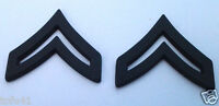 1 PAIR (2) ARMY RANK E4 CORPORAL (SUBDUED) Military Veteran Hat Pin P12751 EE