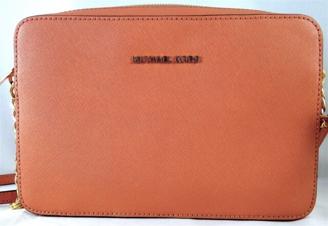 3367478ae3b0 Michael Michael Kors Jet Set Travel Large EW Antique Rose Leather Crossbody  Bag