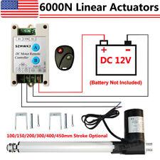 Linear Actuator 6000n 1320lbs Lift Heavy Duty 12v Motor Ampcontroller Ampbrackets Ig