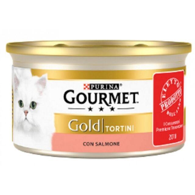 Gourmet Gold Tortini con Salmone Cibo Umido per Gatti