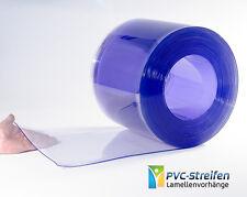 25m300x3mm PVC Rolle Streifen Lamellen Vorhang BLAU-transparent Streifenvorhang