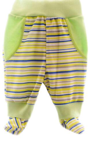 Hose mit Füßchen Babyhose Schlupfhose Unisex Grün 56 62 68 74 80 86 Schlafhose