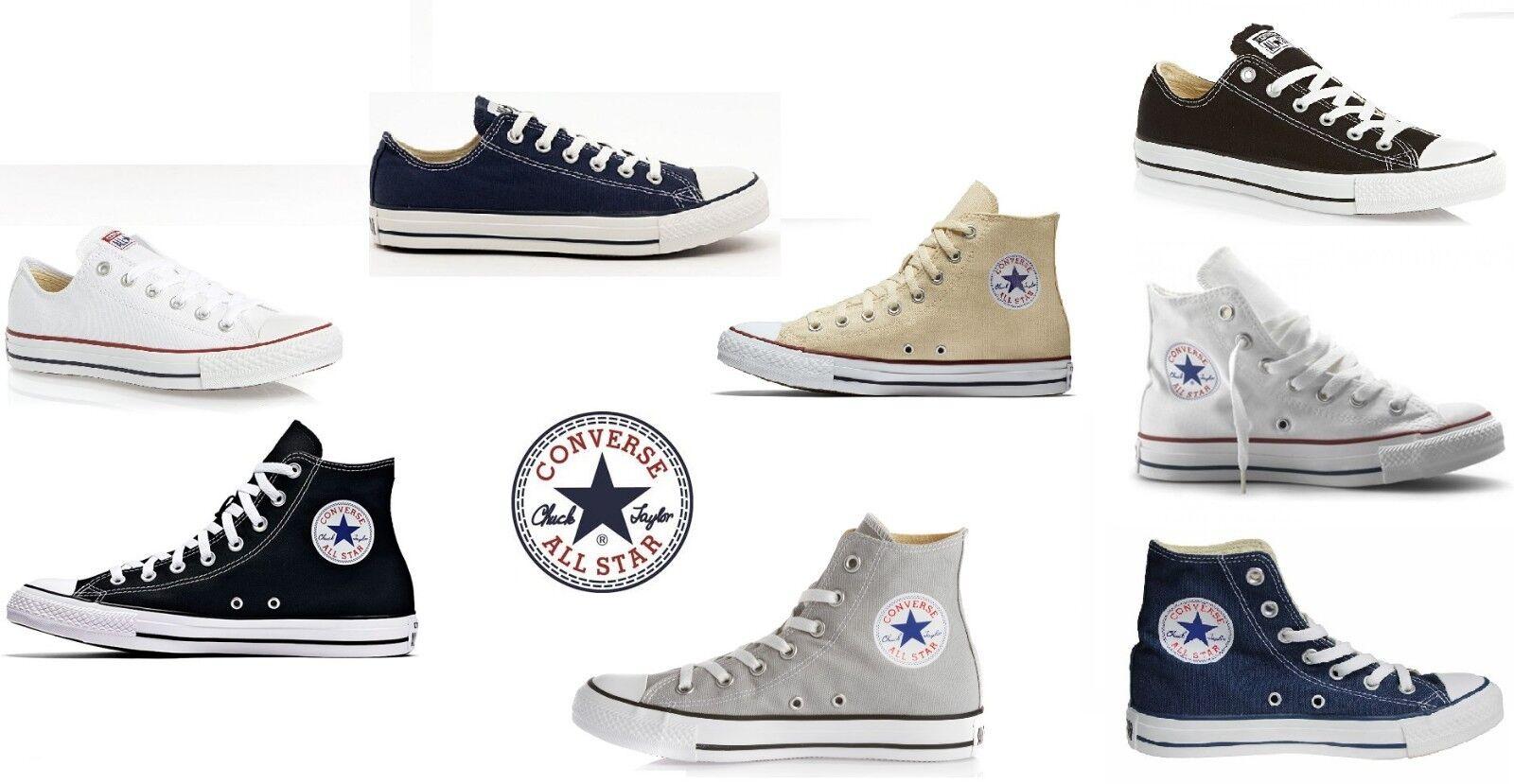 CONVERSE CONVERSE CONVERSE All Star Chuck Taylor zapatillas unisex cotone suola gomma 100% originale ce63bc