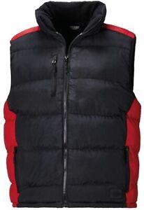 Dickies-Crayford-Padded-Work-Ripstop-Hooded-Gilet-Bodywarmer-Black-Red-OFFER