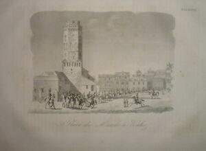 101-POLOGNE-Engraving-1837-Place-du-Marche-a-KALISZ