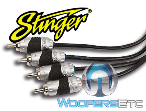 SHI4220 STINGER HPM 2 20 FT FEET 4-CHANNEL RCA WIRE INTERCONNECT CABLE SHI-4220