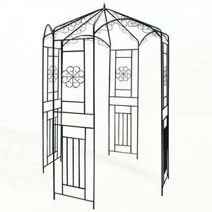 metall pavillon spalier rosenbogen rankhilfe rankgitter pergola gartenlaube rose ebay. Black Bedroom Furniture Sets. Home Design Ideas