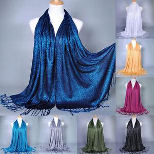 Womens-Muslim-Long-Cotton-Hijab-Shawl-Scarf-Tassel-Scarves-Stole-Wrap-Pashmina