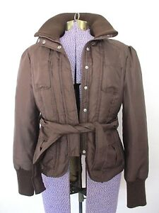 Brown Bælte Filled Kvinder Bebe Størrelse W Bomber L Lrg Vintercoat Down Jacket Store tYzx8Y