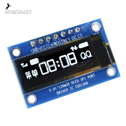 """0.91/"""" IIC I2C 128x32 White  SPI OLED LCD Display Module For Arduino PIC"""