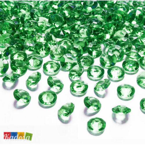 Diamantini Centrotavola Party 100 pz Diamanti Decorativi 12 mm VERDE SMERALDO