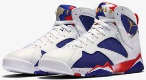 d20e58eb8833 Air Jordan VII 7 Olympic USA Tinker Alternate Red White Blue Sz 10.5 ...