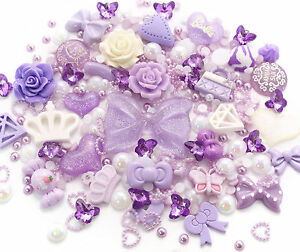 Purpura-Princess-Juego-De-Cabujones-Diamantes-De-Imitacion-Perla-BRICOLAJE