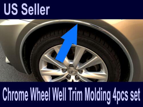 For Chevy2006-2019 Models Set of 4 Chrome Fender Wheel Well Trim Molding
