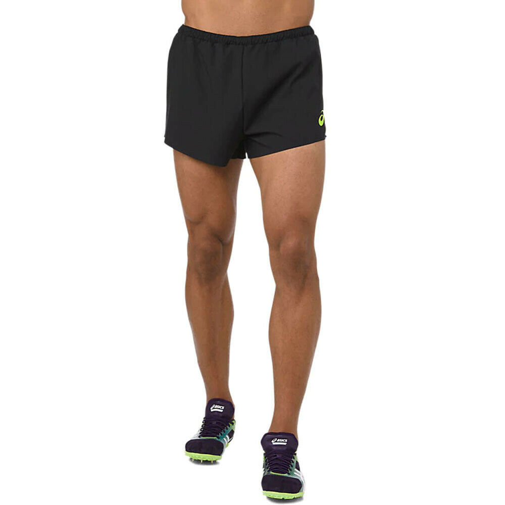 ASICS Uomo Intessuto Pantaloncini Shorts Pantaloni Nero Sport Palestra