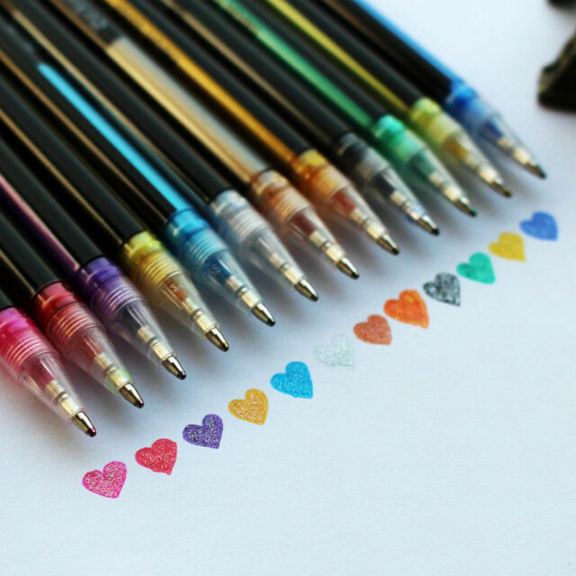 Universal Students Pen Painting Colored Ink Metal Multi-color Writing Tools Hot